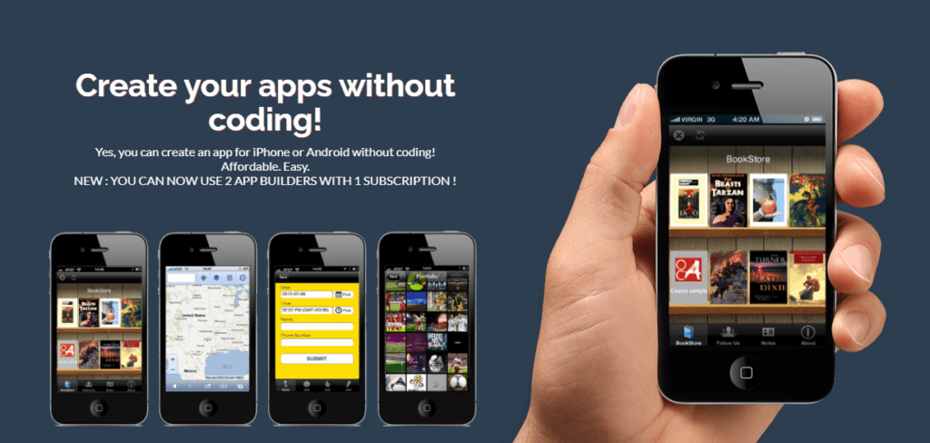 create your apps without coding