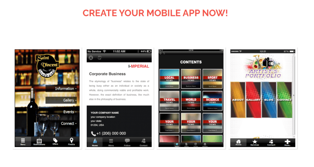 Create Your Mobile App NOW